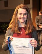 Science Fair student with award